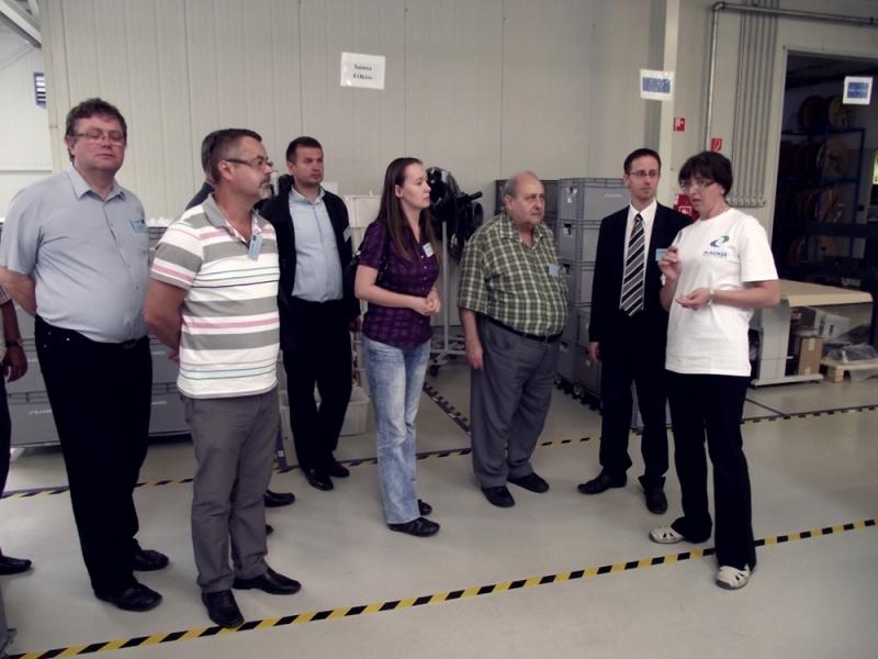 Látogatás a Macher Kft.-nél 2013. június 12-én - Látogatás Minőségdíjas Szervezeteknél szakmai látogatás helyszíne a kétszeres Nemzeti Minőségi Díj nyertese a Macher Gépészeti és Elektronikai Kft., székesfehérvári üzeme volt.