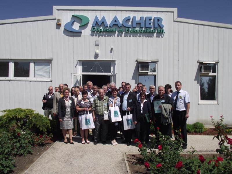 Látogatás a Macher Kft.-nél 2013. június 12-én