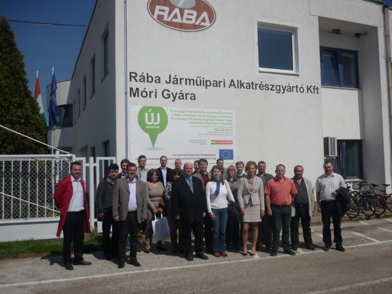 ISO 9000 FÓRUM által szervezett gyárlátogatás - RÁBA Járműipari Alkatrészgyártó Kft.