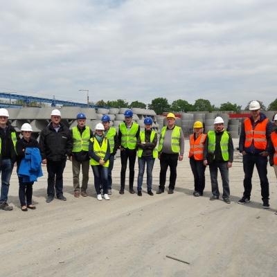 Betonelemgyártó üzem látogatása az SW Umwelttechnik Magyarország Kft. alsózsolcai telephelyén